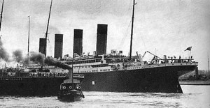 The Titanic Leaving Queenstown