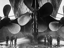 The propellers of the Titanic