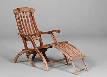 Artifacts from the Titanic - deck chair
